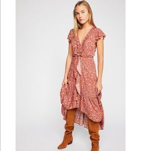 Free People Kivari Capri Tie Up Midi Dress